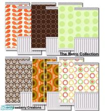 Sims 2 — The Retro Collection by Strawbz — Retro wallpaper that can be used in any room of the house. Perfect for