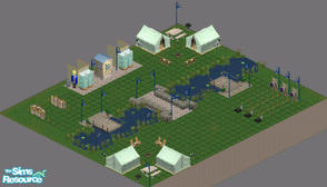 Sims 1 — Camp Crumplebottom by frisbud — For those who just want to get back to nature, Camp Crumplebottom is the place