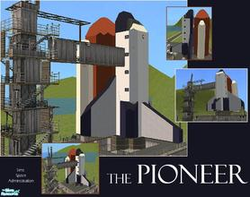 Sims 2 — The Pioneer by laivine_erunyauve — The Pioneer is a space shuttle that has been turned into a museum for your