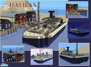 Sims 2 — The Halifax Hotel by laivine_erunyauve — The Halifax is an old fishing trawler that has been converted into a