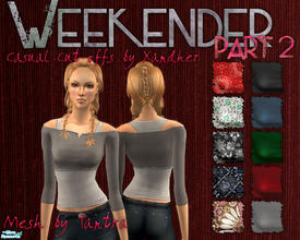 Sims 2 — Weekender Part 2 - Cut off shirts by Xandher — A collection of cut-off tops perfect for lazy weekend days, these