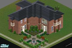 Sims 1 — Large Two Story Brick Home by mol924 — Beautiful, two story, large, brick home with balcony looking over