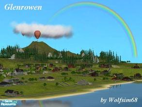 Sims 2 — Glenrowen by Wolfsim68 — This lovely seaside village features all aspects, beach, river, hills & a city grid