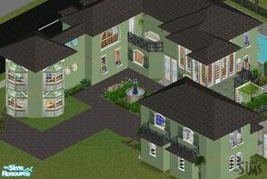 Sims 1 — The Ivy Green Mansion by mol924 — The Ivy Green Mansion has a kitchen, dining room, living room, rec.