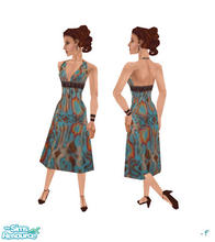 Sims 1 — Phard Dress by linda_frieden — a lovely summer dress in a retro pattern :) all skin tones