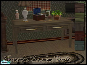Sims 2 — Old Victorian Desk by sim_man123 — Old, simple, Victorian desk and recolors.