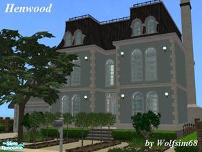 Sims 2 — Henwood by Wolfsim68 — Modern living combined with old world charm, featuring open plan Living/Dining &
