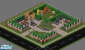 Sims 1 — Simmerly Hills - Two Willows Park by ladytimedramon — Two Willow Park is named for the two willow trees at the