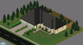 Sims 1 — The Woodlot Home by GlitteringSparkles — Brand New Home for your Sim. 3 Bed/2 Bath w/ 2 Car Garage. Master Room