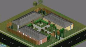 Sims 1 — Sunny Side Mobile Home Park by GlitteringSparkles — 3 Mobile Homes, each w/ 1 bed, 1 bath, den, kitchen and a
