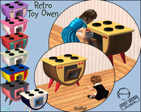 Sims 2 — Retro Toy Oven by solfal — Workes as a Maxis toy oven exept that toddlers can play with the oven door and have
