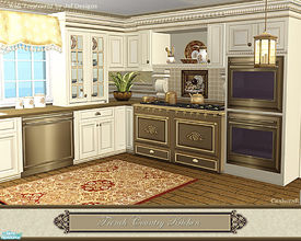 Sims 2 — French Country Kitchen by Cashcraft — This is a set recolor of the Traditional Inspired Kitchen meshes and it