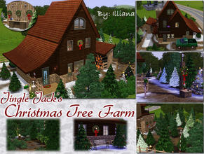 Sims 3 — Jingle Jacks Xmas Tree Farm by Illiana — Once a year a strange house pops into neighborhoods all over Simland!