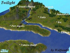 Sims 2 — Twilight by Wolfsim68 — Featuring all of the locations from this fantastic series, Forks, Edwards house, La