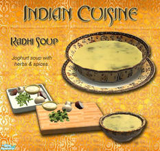 Sims 2 — Indian Cuisine - Kadhi Soup by Simaddict99 — Yoghurt and herb soup, great warm or cold. No EP required,