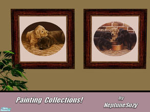 Sims 2 — NSC Painting Set100 by Neptunesuzy — Your Sims will love these Puppy Paintings! Enjoy!