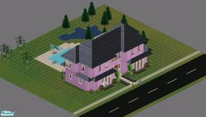 "Sims 1 — Sweet Streets: Town House 1 by diamondnell — This ""vanilla\"" series of houses and community lots is"