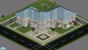 "Sims 1 — Sweet Streets: Care Time Hospital by diamondnell — This ""vanilla\"" series of houses and community"