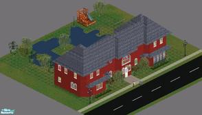 "Sims 1 — Sweet Streets: School House by diamondnell — This ""vanilla\"" series of houses and community lots is"