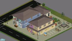 "Sims 1 — Sweet Streets: Cafe Toy & Pet Shops by diamondnell — This ""vanilla\"" series of houses and"