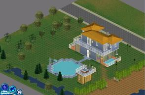 "Sims 1 — Sweet Streets: Beach House by diamondnell — This ""vanilla\"" series of houses and community lots is"