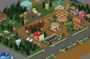 "Sims 1 — Sweet Streets: Country Fair by diamondnell — This ""vanilla\"" series of houses and community lots is"