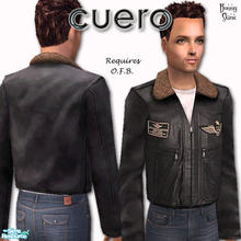 Sims 2 — Cuero For Him in Black by BunnyTSR — To celebrate my forthcoming Third Wedding Anniversary, traditionally