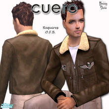 Sims 2 — Cuero For Him in Brown by BunnyTSR — To celebrate my forthcoming Third Wedding Anniversary, traditionally