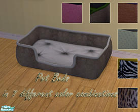 Sims 2 — Pet Beds by Sophel21 — pet beds in 7 different color combinations/textures. So your small and big sweethearts