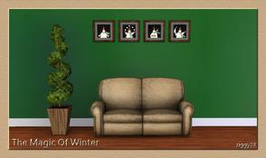 Sims 3 — The Magic Of Winter by ziggy28 — Cute little pictures of a snowman juggling snowballs. The picture is called '