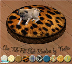 Sims 2 — One Tile Pet Beds Recolors by Tantra — 10 recolors of Paladin's 1-tile round pillow pet bed, which just perfect