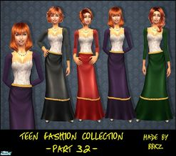 Sims 2 — Teen Fashion Collection - part 32 - by BBKZ — Medieval style. Available as everyday and formal. No mesh needed.