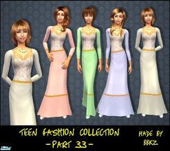 Sims 2 — Teen Fashion Collection - part 33 - by BBKZ — Medieval style. Available as everyday and formal. No mesh needed.