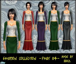 Sims 2 — Fashion Collection - part 114 - by BBKZ — Medieval style. Available as everyday and formal for YAs, adult and