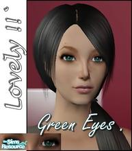 Sims 2 — Lovely Green Eyes by KiduJoJole — I love the green eyes, so i created this.:) I hope you like it too.