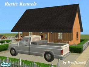 Sims 2 — Rustic Kennels by Wolfsim68 — With 4 kennels awaiting new breeding stock plus a Smord P328 in the driveway, this