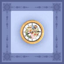 Sims 3 — Art Nouveau Head Clock by ziggy28 — Art nouveau head clock. Cloned from the Maxis 'ClockWallContemporay'.