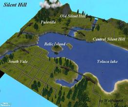 Sims 2 — Silent Hill by Wolfsim68 — Featuring all of the locations from the game & movie - South Vale, Paleville,