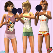 Sims 2 — evi2s Cat pjs for teens by evi — Cat pjs for teens