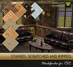 Sims 3 — Stained, Scratched and Ripped by BlackGarden — Eww... don't sit down there. Watch where you're putting your