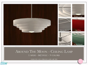 Sims 2 — Around The Moon by DOT — Around The Moon Ceiling Lamp. 1 Mesh Plus Recolors. Sims 2 by DOT of The Sims Resource.