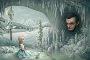 Sims 3 — Para_Ryden Print 3 by paramiti — Artist is Of Course..Mark Ryden Yes Indeed..Ryden has a thing for Abe Lincoln