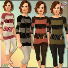 Sims 3 — This Is For -Teen- by hasel — 3 recolorable Palettes 4 different styles.. Enjoy..