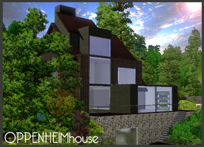 Sims 3 — Oppenheim House by LeahMarie — Oppenheim House is my latest creation and is based on a house by Oppenheim