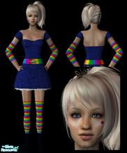 Sims 2 — Rainbow Bright Dress/Costume by sinful_aussie — A cute halloween dress for your sims. Based on the Rainbow