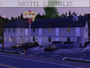 Sims 3 — Motel 2 Etoiles by lilliebou — Hi ! This is a motel in which four sims can live. The bedrooms are on the second