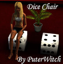 Sims 3 — Dice Chair by puterwitch — Livingroom Dice Chair by PuterWitch, Base game compatible.