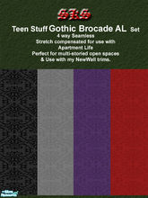 Sims 2 — Teen Stuff Gothic Brocade AL by 71robert13 — Taken from Teen Stuff, now made 4 way seamless & Stretch