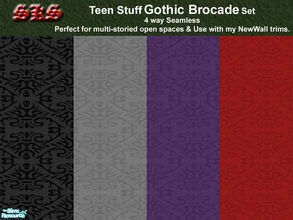 Sims 2 — Teen Stuff Gothic Brocade by 71robert13 — Taken from Teen Stuff, now made 4 way seamless. Perfect for