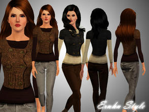 Sims 3 — Sweet Winter Casual by ernhn — Sweet Winter Casual . 3 recolorable palettes . Hope you like :*